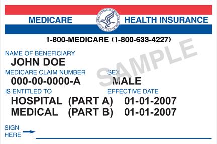 Old Medicare Card Sample